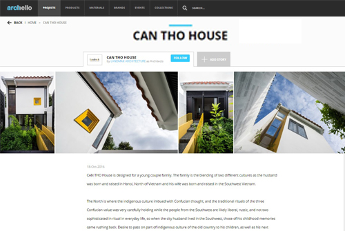 CAN THO HOUSE - Publication